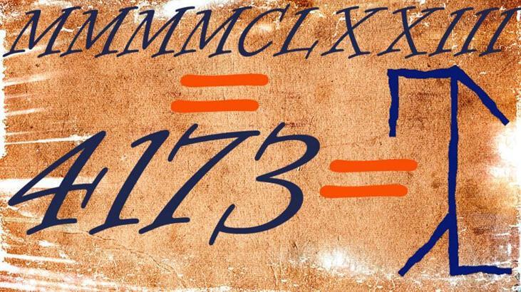 Avrupa'da yüzyıllarca kullanılıp unutulan sayı sistemi