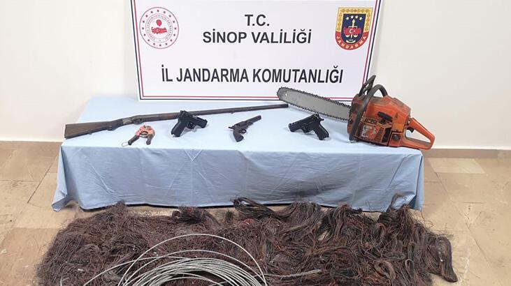 Sinop'ta kablo hırsızlığı operasyonunda 3 gözaltı