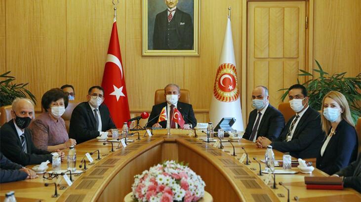 TBMM Başkanı Şentop, Kuzey Makedonya Anayasa Mahkemesi Başkanı'nı kabul etti