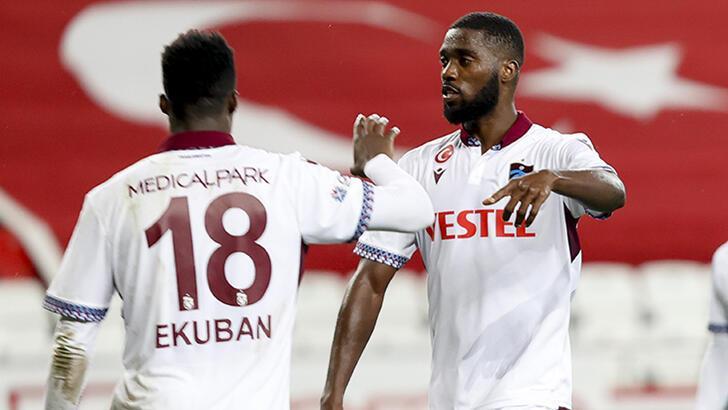Trabzonspor'un müthiş ikilisi! Caleb Ekuban ve Djaniny damga vurdu