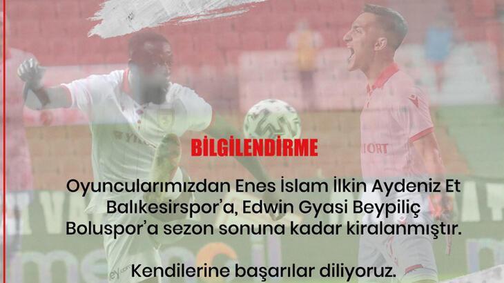 Samsunspor 2 oyuncusunu kiralık olarak gönderdi