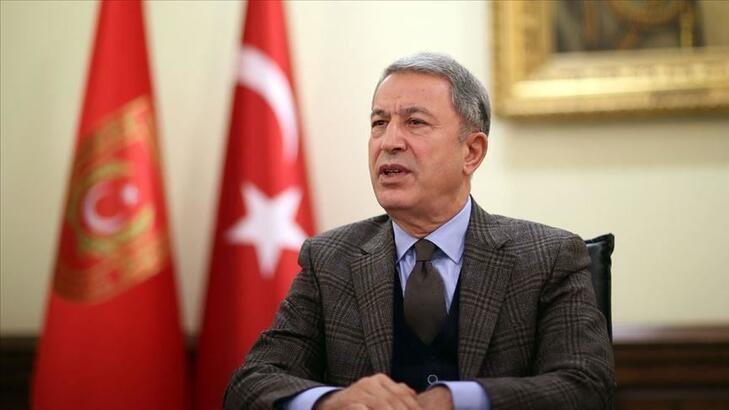 Son dakika... Milli Savunma Bakanı Akar, Azerbaycanlı mevkidaşı ile görüştü