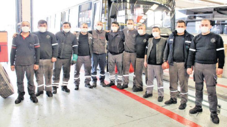 450 otobüse bakım