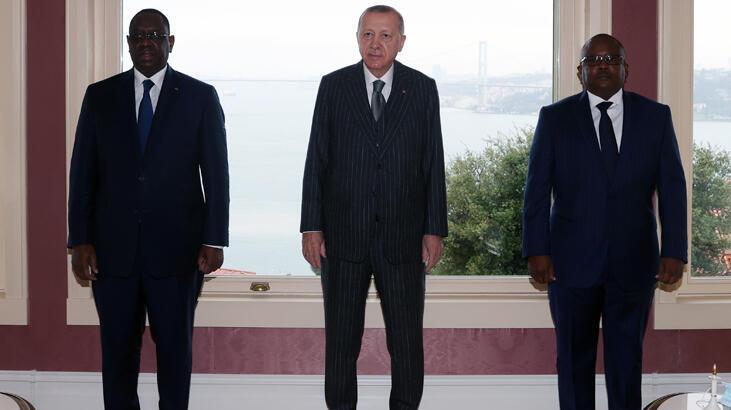 Erdoğan, Gine Bissau ve Senegal Cumhurbaşkanı ile görüştü