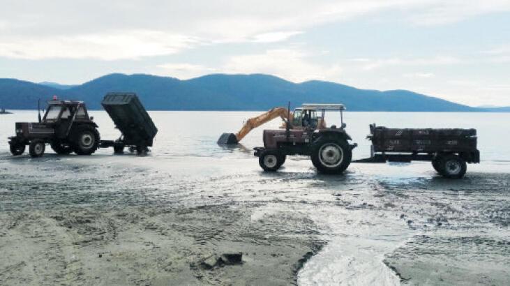 Akyaka sahilinde çevre düzenlemesi