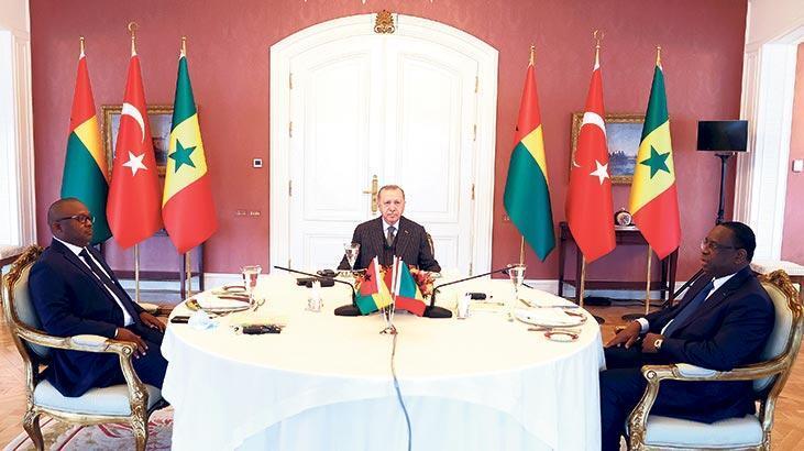 Erdoğan, Afrikalı konuklarını ağırladı