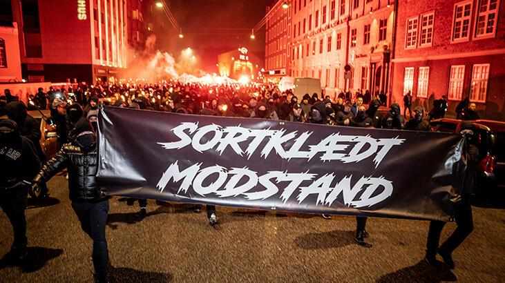 Danimarka'da koronavirüs protestosu