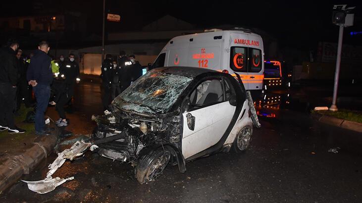 İzmir'de feci kaza! 2 yaralı var