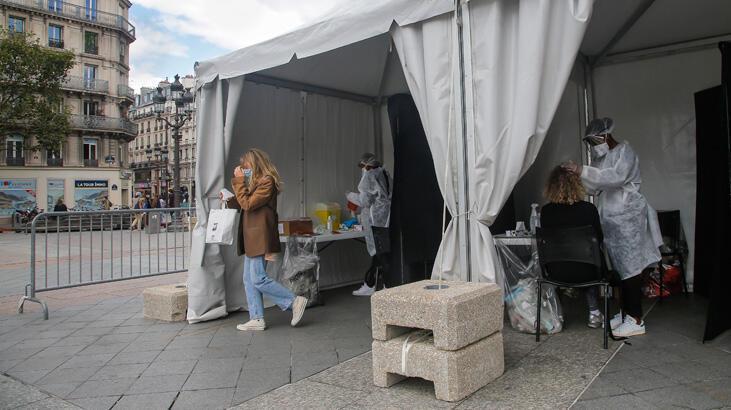 Fransa'da son 24 saatte 19 bin 590 Kovid-19 vakası kaydedildi