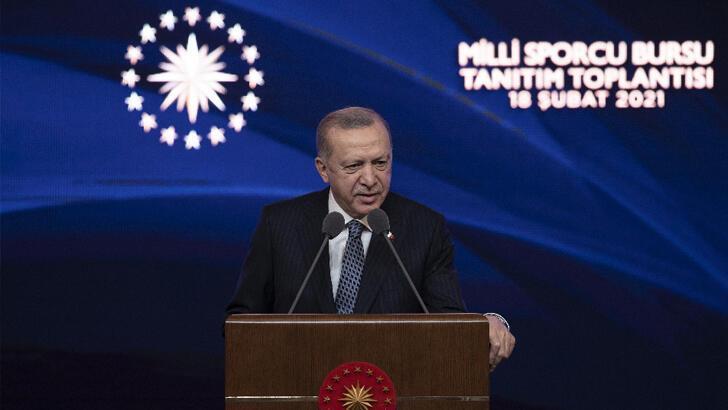 Cumhurbaşkanı Erdoğan'dan sporcu bursu açıklaması