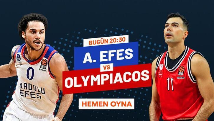 Anadolu Efes-Olympiakos maçı iddaa oranları! Heyecan misli.com'da