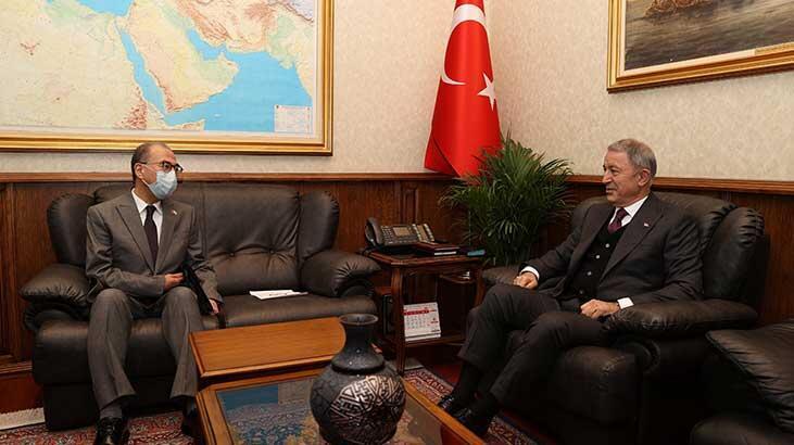 Bakan Akar, Japonya Büyükelçisi ile görüştü