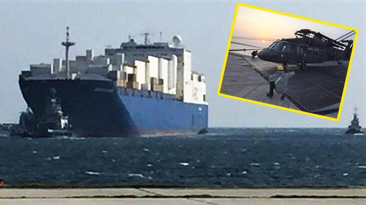 Son dakika... ABD gemisi yanaştı, helikopterler indi!