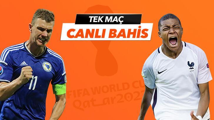 Bosna Hersek-Fransa maçı canlı bahis seçeneğiyle Misli.com'da