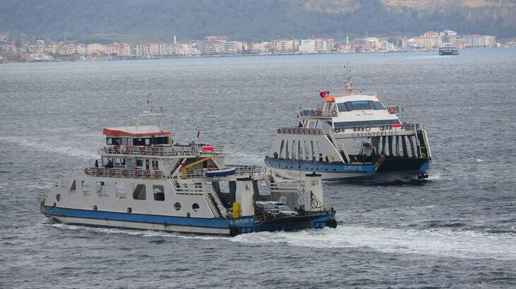 Deniz ulaşımına fırtına engeli! İptal edildi