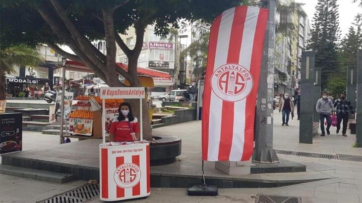 Antalyaspor Kulübünün bayrak kampanyası sürüyor