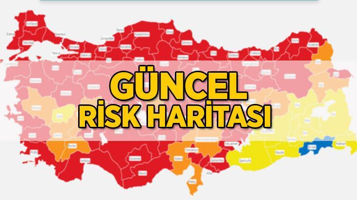 Risk haritası yeni | Koronavirüs risk haritası vaka sayısına göre düşük, orta, yüksek, çok yüksek riskli iller