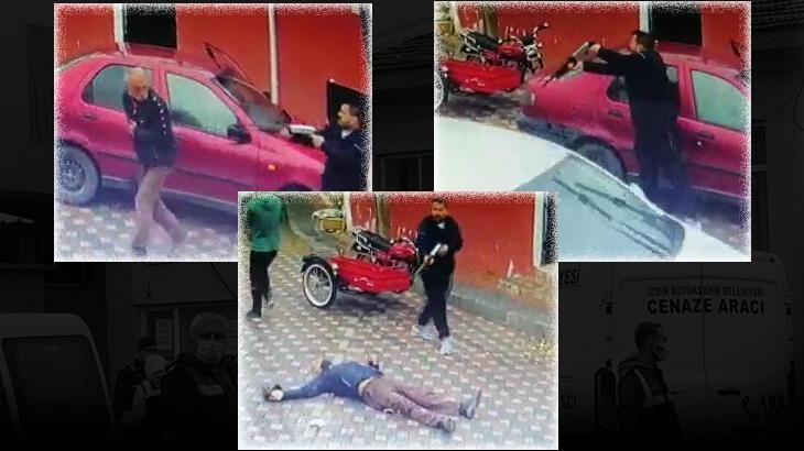Sokak ortasında öldürdü! Cinayet anları güvenlik kamerasında...