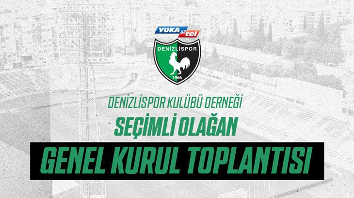 Denizlispor Kulübünün olağan seçimli genel kurulu 31 Mayıs'ta yapılacak