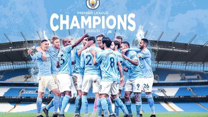 Premier Lig'de Manchester City şampiyon