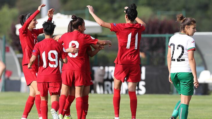 Kadın A Milli Futbol Takımı, Bulgaristan'ı 3-1 yendi