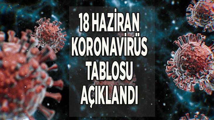 Son dakika || 18 Haziran koronavirüs tablosu açıklandı! Sağlık Bakanlığı Türkiye korona tablosu son durumu nedir?