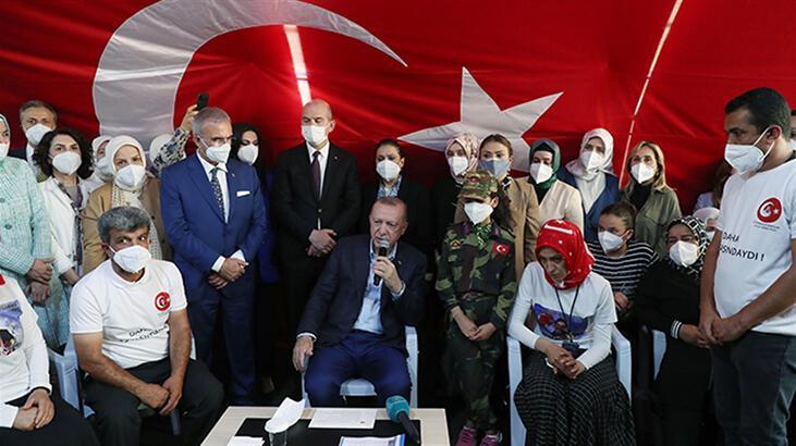 Cumhurbaşkanı Erdoğan'dan Diyarbakır annelerine ziyaret
