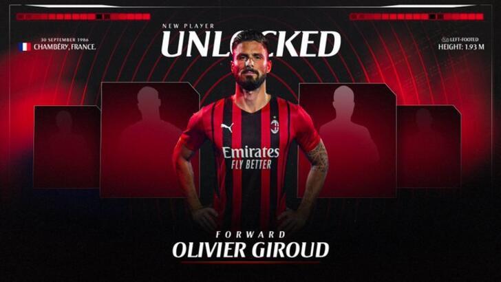 Milan, Olivier Giroud'u transfer ettiğini açıkladı