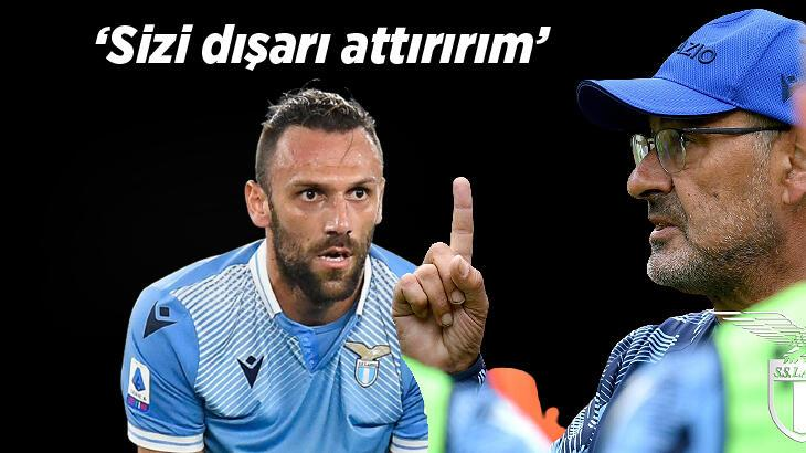 Son dakika haberi - Maurizio Sarri'den Vedat Muriqi tehdidi: Sizi dışarı attırırım