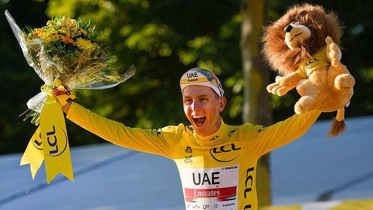 Tadej Pogacar, Fransa Bisiklet Turu'nda üst üste ikinci kez şampiyon oldu