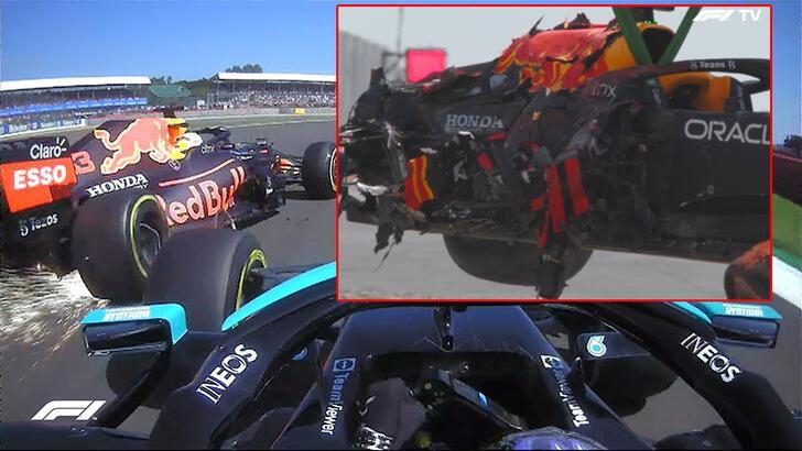 Son dakika - Formula 1'de Hamilton ile Verstappen çarpıştı! Kaza sonrası tepki
