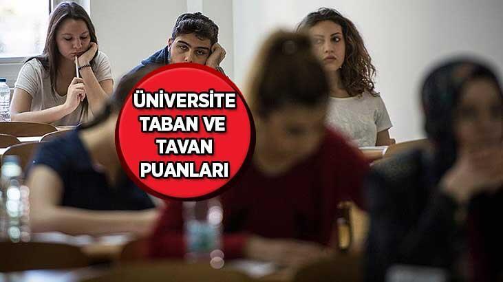 Üniversite (YKS) taban ve taban puanları 2021 - 2 ve 4 yıllık üniversite taban ve tavan puanları açıklandı mı?