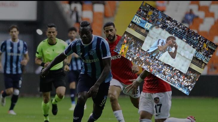 Son dakika haberi: Adana Demirspor'da Mario Balotelli fırtınası devam ediyor! Tribünler pankart açtı