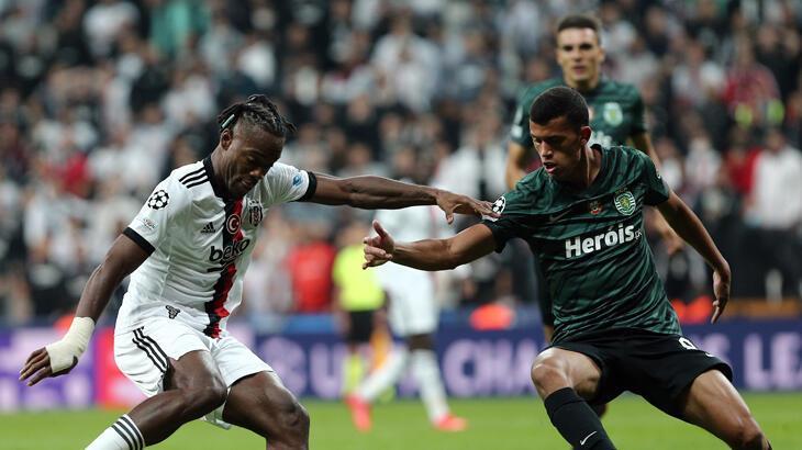 Beşiktaş - Sporting Lizbon maçından kareler