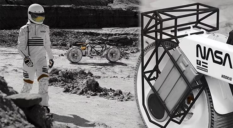 Bütün Ay araçlarını unutun; işte geleceğin astronotları için motosiklet!