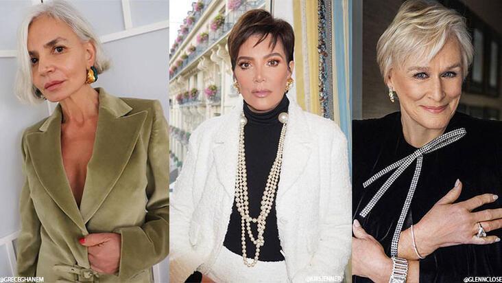 50 yaş üstü kadınlara en çok yakışacak kısa saç modelleri
