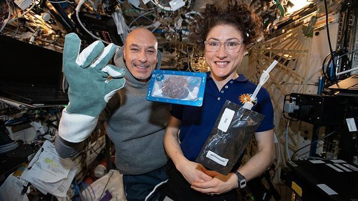 Uzayda pişen ilk yiyecek!