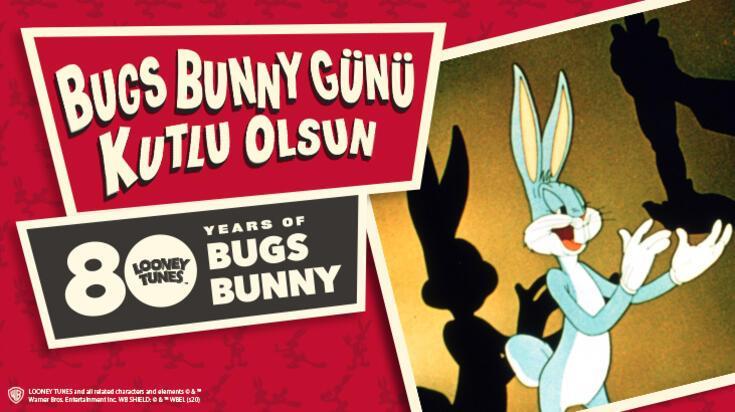 Tüm zamanların en sevilen çizgi karakteri, Bugs Bunny, 80'inci yılında!