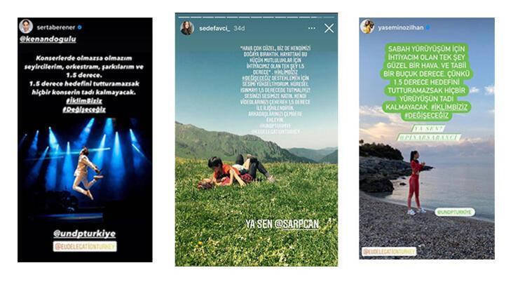 """Milli sporculardan sanatçılara Türkiye'nin ünlü isimleri """"İklim Biziz, Değişeceğiz"""" dedi!"""