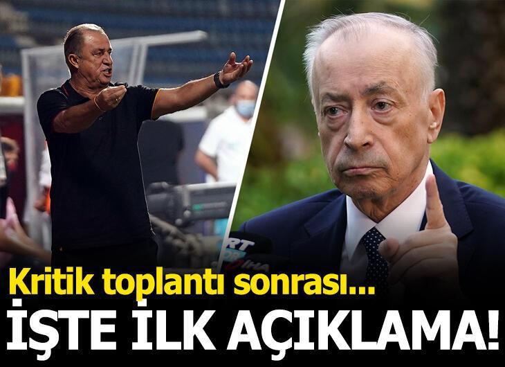 Galatasaray'da toplantının ardından Fatih Terim'den flaş açıklama!