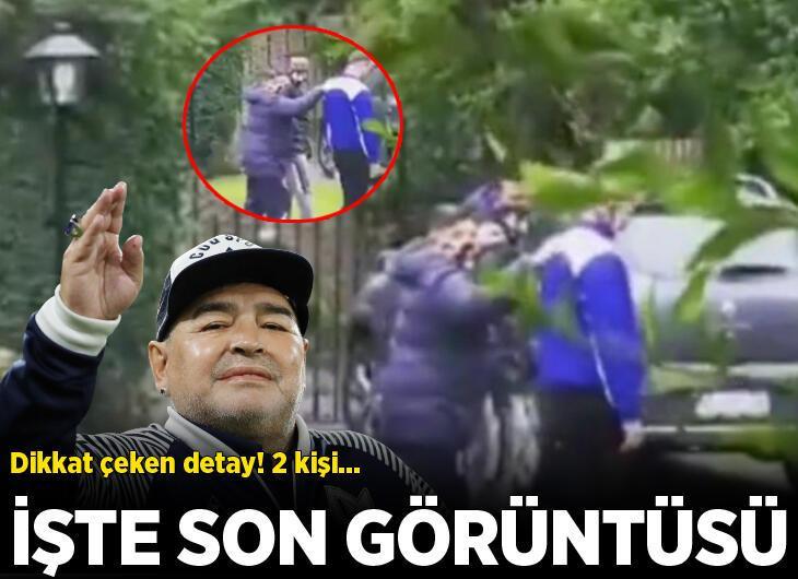 Maradona'nın son görüntüsü ortaya çıktı! Evine girerken...