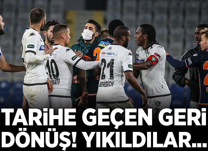 Son dakika - Süper Lig tarihine geçecek geri dönüş! Başakşehir yıkıldı...