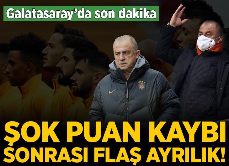 Şok puan kaybı sonrası Galatasaray'da ayrılık! Fatih Terim'den son dakika kararı...