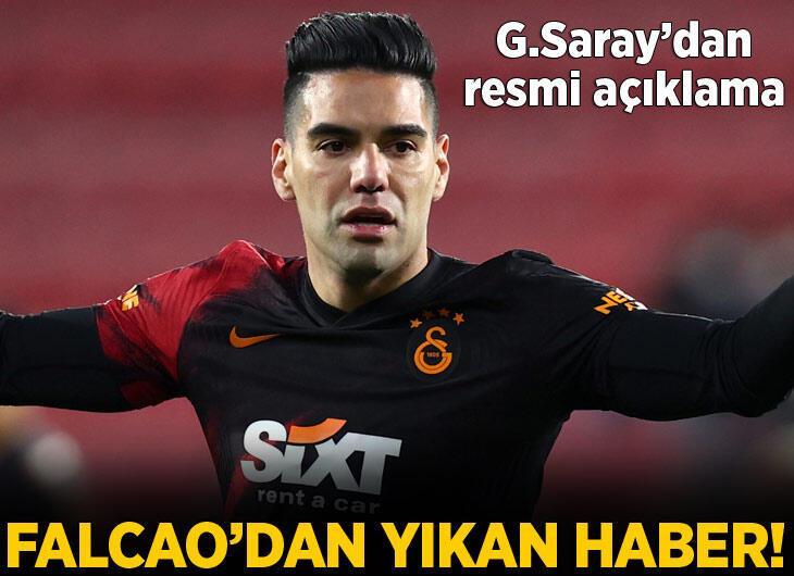 Galatasaray'da Kerem'le çarpışan Falcao'nun yüz kemiklerinde kırık!