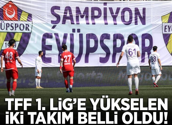 Manisaspor ile Eyüpspor TFF 1. Lig'e yükseldi