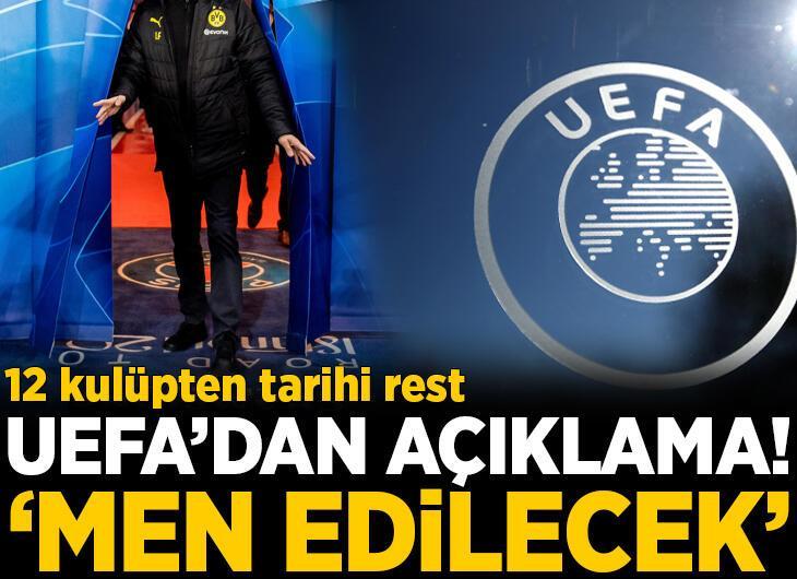 12 Avrupa devinden UEFA'ya rest!