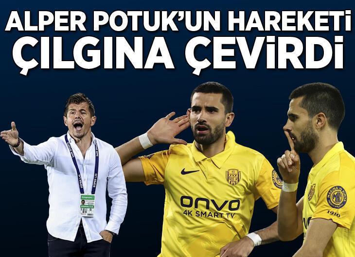 Ankaragücü - Fenerbahçe maçında olay sevinç! Alper Potuk'un hareketi damga vurdu...
