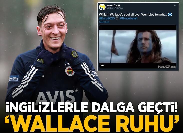 Mesut Özil'den şaşırtan mesaj! İngiltere'yle alay etti