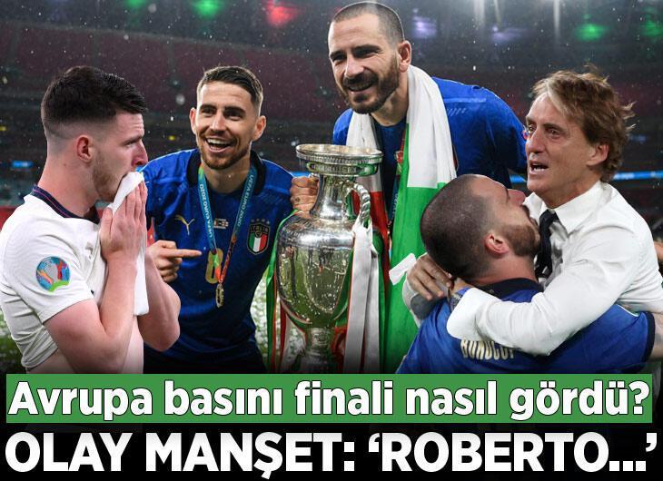 """İtalya-İngiltere finalinin ardından olay başlık: """"Roberto..."""""""