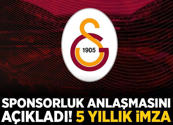 Galatasaray sponsorluk anlaşmasını açıkladı!